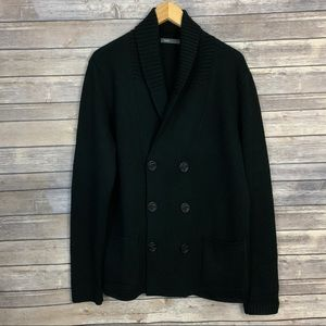 Vince Double Breasted Wool Cardigan